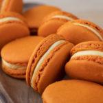 annatto orange in macarons