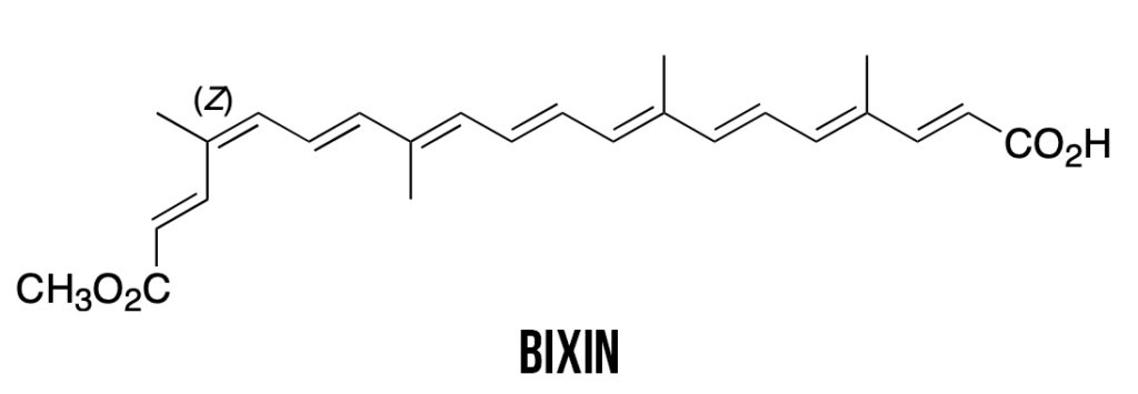 chemical structure of bixin