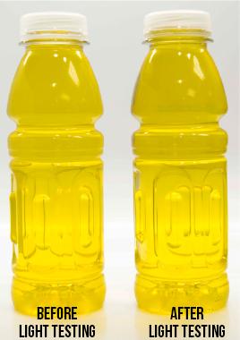 Emulsitech betacarotene color stability light testing